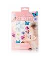 3D gezicht stickers bloemen en vlinders 1 vel