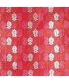 Cadeaupapier rood met bloemen 70 x 200 cm