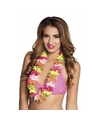 Gekleurde Hawaii krans 50 cm