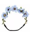 Ibiza stijl haarbandjes met blauwe bloemen