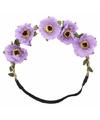 Ibiza stijl haarbandjes met paarse bloemen