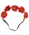 Ibiza stijl haarbandjes met rode bloemen
