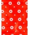 Geschenkpapier rood bloemen 70 x 200 cm
