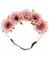 Luxe haarband met roze bloemen